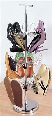 Revolving Shoe Carousel Brand new High Quality Holds 18 Pairs