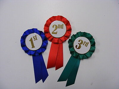 Rosettes 1st, 2nd &  3rd