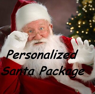 Santa Package with personalized letter, photo, ornament, reindeer food, and MORE