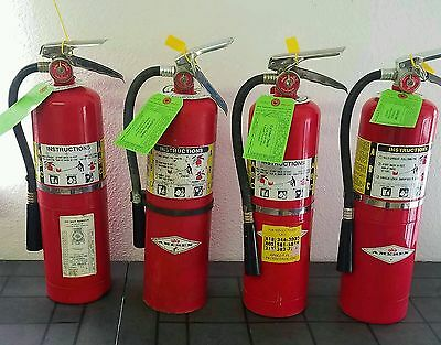 Four 10lb Fire Extinguisher - ABC Dry Chemical - Certified Tags - Blemished