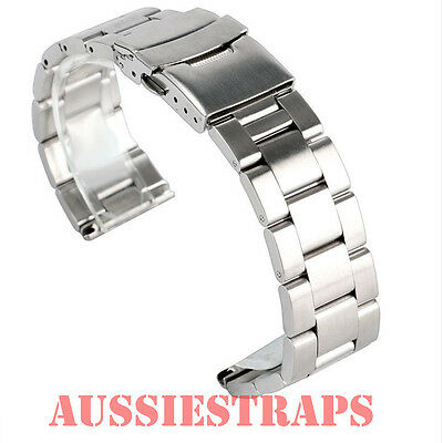 STRAIGHT OYSTER BRACELET fits Seiko & Citizen Watch Stainless Steel Band Strap