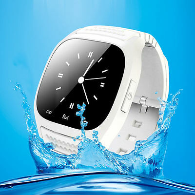 White M26 Bluetooth Smart Wrist Watch Phone Mate For IOS Android iPhone Samsung