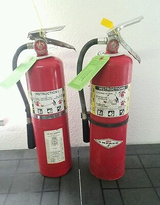 Two 10lb Fire Extinguisher - ABC Dry Chemical - Certified Tags - Blemished