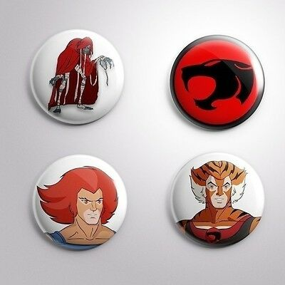 4 THUNDERCATS - Pinbacks Badge Button Pin 25mm 1''