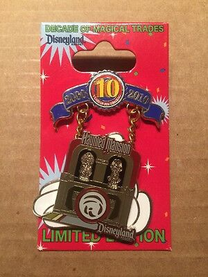 Disney Pin Trading 10th Anniversary Decade of Magical Trades The Haunted Mansion