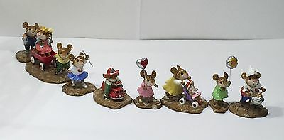 Wee Forest Folk 8 PIECE PARADE SET -MINT!!   -Retired  --7 DAY LISTING