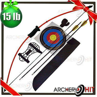 "44"" Junior Long Bow and Arrow Recurve Archery Set Basic Pack KIDS YOUTH"