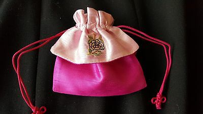 Korean Pink Rose traditional pouch
