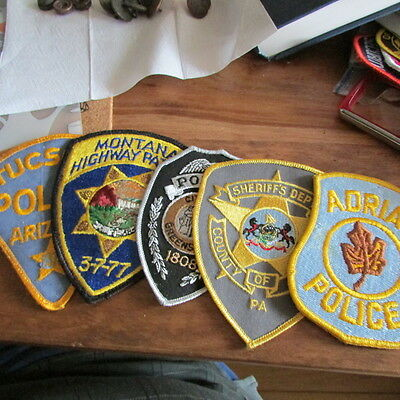 5 Unused Older Police Patches