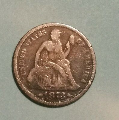 1873 Seated Liberty Dime with Arrows