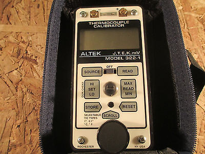 ALTEK THERMOCOUPLE CALIBRATOR  322 - 1    UNUSED / NEW OTHER,TYPES J K T E & mV