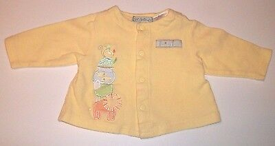 Unisex Baby Shirt Size 0-3 Months Sue Dreamer Long Sleeve Yellow Animals