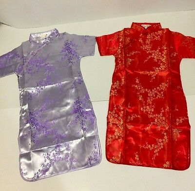 Asian Chinese Traditional Red Dress Size 6 Little Girls