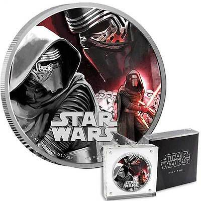2016 $2 Star Wars: The Force Awakens - Kylo Ren 1oz Silver Proof Coin (02739)