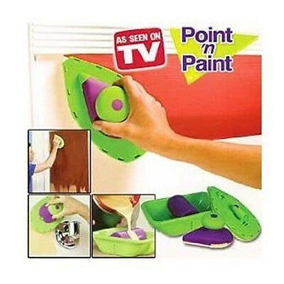 Easy Paint Pro 4 Bristle Pads Roller N Tray And Painting Point Quick Post New