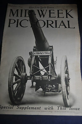 November 1915 WW1 Photos, New York Times Pictorial, Bruges, War Balloons