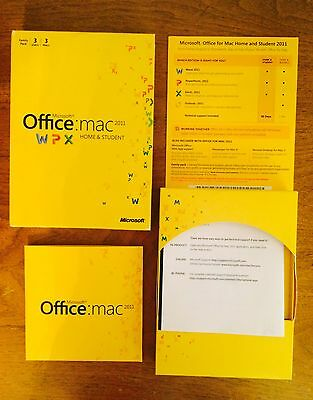 Microsoft Office for Mac Home and Student 2011 Family Pack 3 USERW7F-00014 used