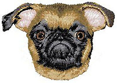 Brussels Griffon (smooth coat) embroidery patch