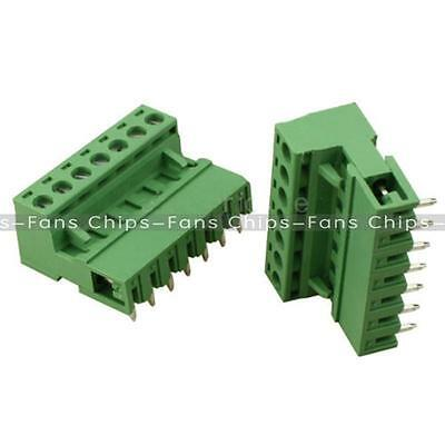 10sets 2EDG 7Pin Plug-in Screw Terminal Block Connector 5.08mm Pitch Right Angle