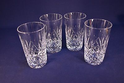 Lot Of 4 Cut Crystal Water Glasses -Excellent