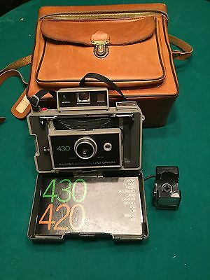 Vintage Polaroid 430 Land Camera With Leather Case