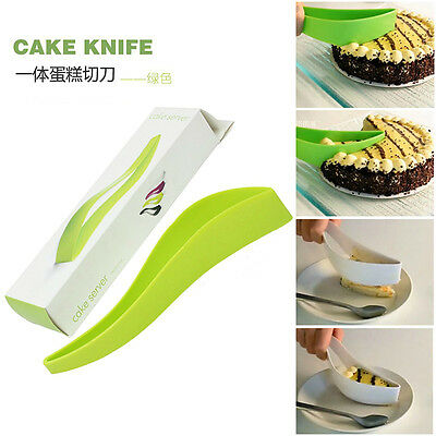 Cool Gadget Cake Pie Slicer Sheet Guide Cutter Server Bread Slice Knife Kitchen
