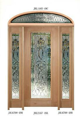 Hand Made Stained Glass Estate Leaded Hand Cut Estate Doorway Entry