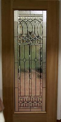 Beautiful Leaded Glass Mahogany Entry Door