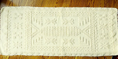 """Price Reduced GREEK Wool Rug 24"""" x 58"""" Very Soft - from Athens SHIPS TODAY"""