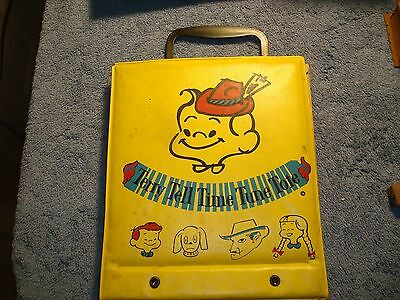 Vintage Terry Tell Time Tune Tote - 45 RPM Record Book with Vintage Records