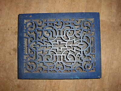 Antique Cast Iron Floor Heating Grate with Louvers