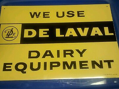 Old DeLaval Dairy Equipment Metal Farm Advertising Sign. Unused. Stout.