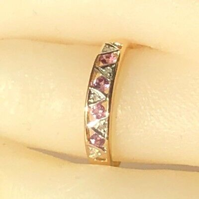 Real Genuine 9ct Yellow Gold Genuine Natural Pink Sapphire Ring anniversary gift