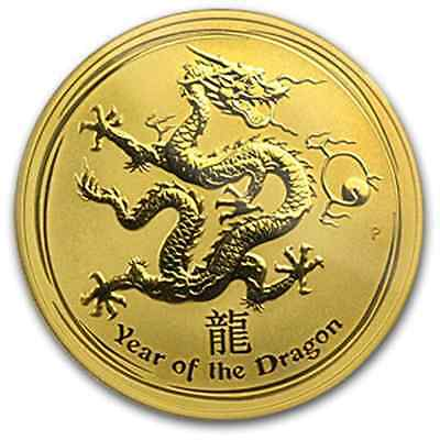 RARE ~ 2012 ~ 1~OZ  PURE .9999 GOLD ~ YEAR of the DRAGON ~ PERTH MINT~ $1,888.88