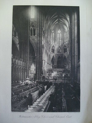 Westminster Abbey, Choir & Chancel, East View 1886- Photogravure