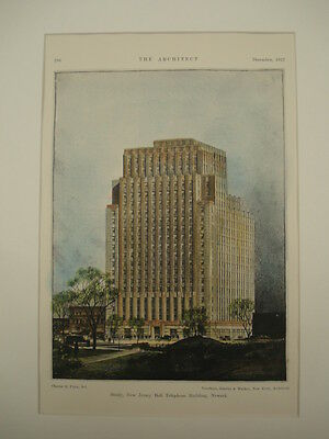 New Jersey Bell Telephone Building, Newark, NJ, 1927, Original Plan