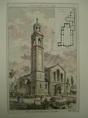 Church of the Most Holy Trinity, Sevenoaks, UK, 1882, Original Plan