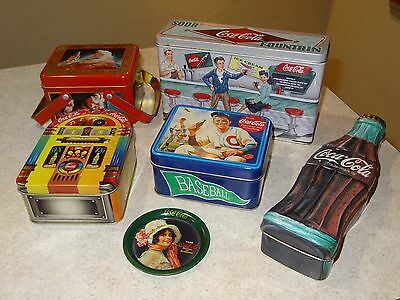 Lot of Coca Cola Tins and Tray (Coke)