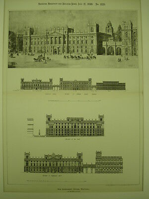 New Government Offices, Whitehall, London, UK, 1899, Original Plan