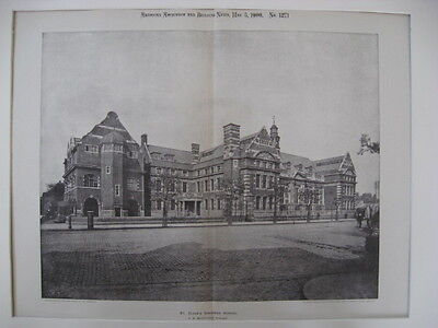 St. Olave's Grammar School, London, UK, 1900, Photograv