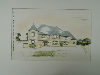 Dr. E.F. Hank's House, Ridgewood, NJ, 1890, Original Plan. Charles Edwards