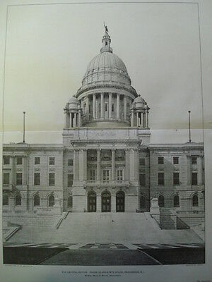 Rhode Island State House, Providence, 1903 Photogravure