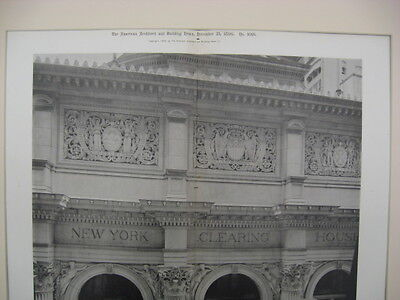 New York Clearing-House, New York, NY, 1896, Gelatine