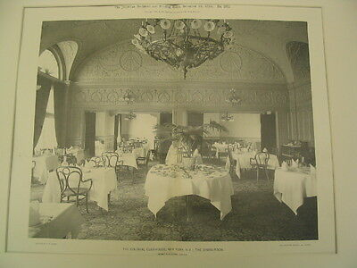 Colonial Club Dining-Room, New York, NY, 1894, Gelatine
