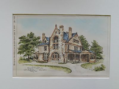 House for Mr. W. C. Procter, Cincinnati, OH, 1889, Original Plan. Wilson.