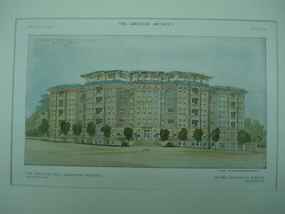 Ponce de Leon Apartment Building, Atlanta, GA, 1909, Original Plan
