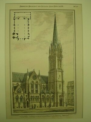 Central Church, Boston, Massachusetts, 1879, Original Plan