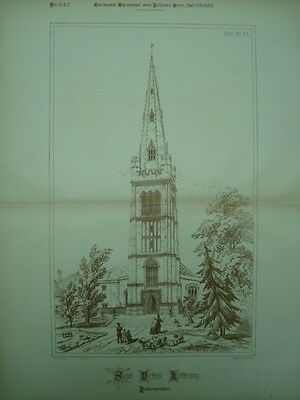 St. Peter's Church, Kettering, England, 1888, Original Plan