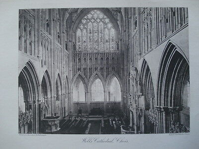 Wells Cathedral. Choir View, 1886- Photogravure
