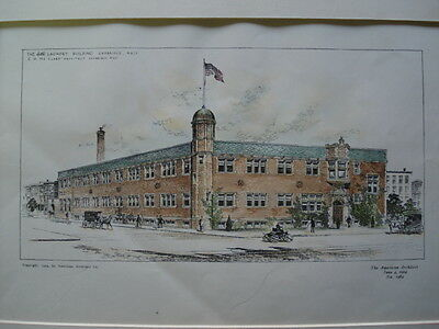 The E & R Laundry Building, Cambridge MA, 1904- Original Plan